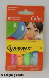 Ohropax Color Ohropax. Packaging