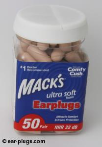 Mack's Ultra Soft Mack's. Packaging