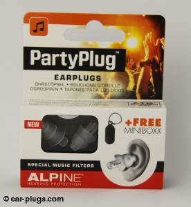 Alpine PartyPlug Alpine Hearing Protection. Packaging