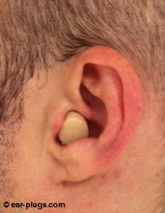 ear wearing  HearosHearos Ultimate Softness Series, side view