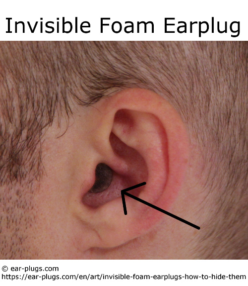invisible foam earplug